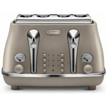 De'Longhi Elements 4 Slice Toaster - Beige