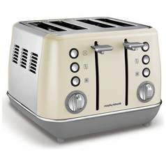 Morphy Richards 240107 Evoke 4 Slice Toaster - Cream