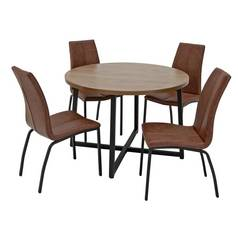 9da87755e7c Argos Home Nomad Round Dining Table and 4 Chairs