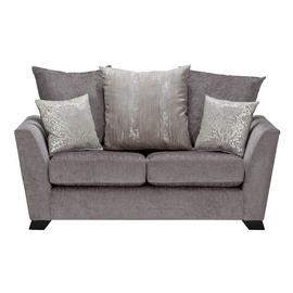 Argos Home Vivienne 2 Seater Fabric Sofa - Silver