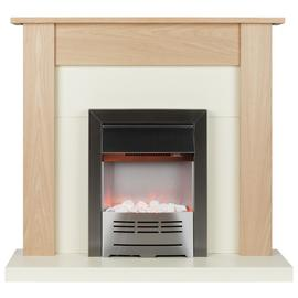 Beldray Earlesworth 2kW Electric Fire Suite - Oak & Ivory