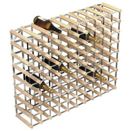 RTA 90 Bottle Natural Pine Wine Rack Kit.