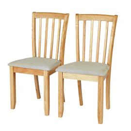 Argos Home Banbury Pair of Dining Chairs - Natural