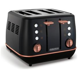 Morphy Richards 240114 Evoke 4 Slice Toaster - Black