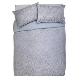 Argos Home Grey Damask Jacquard Bedding Set - Double