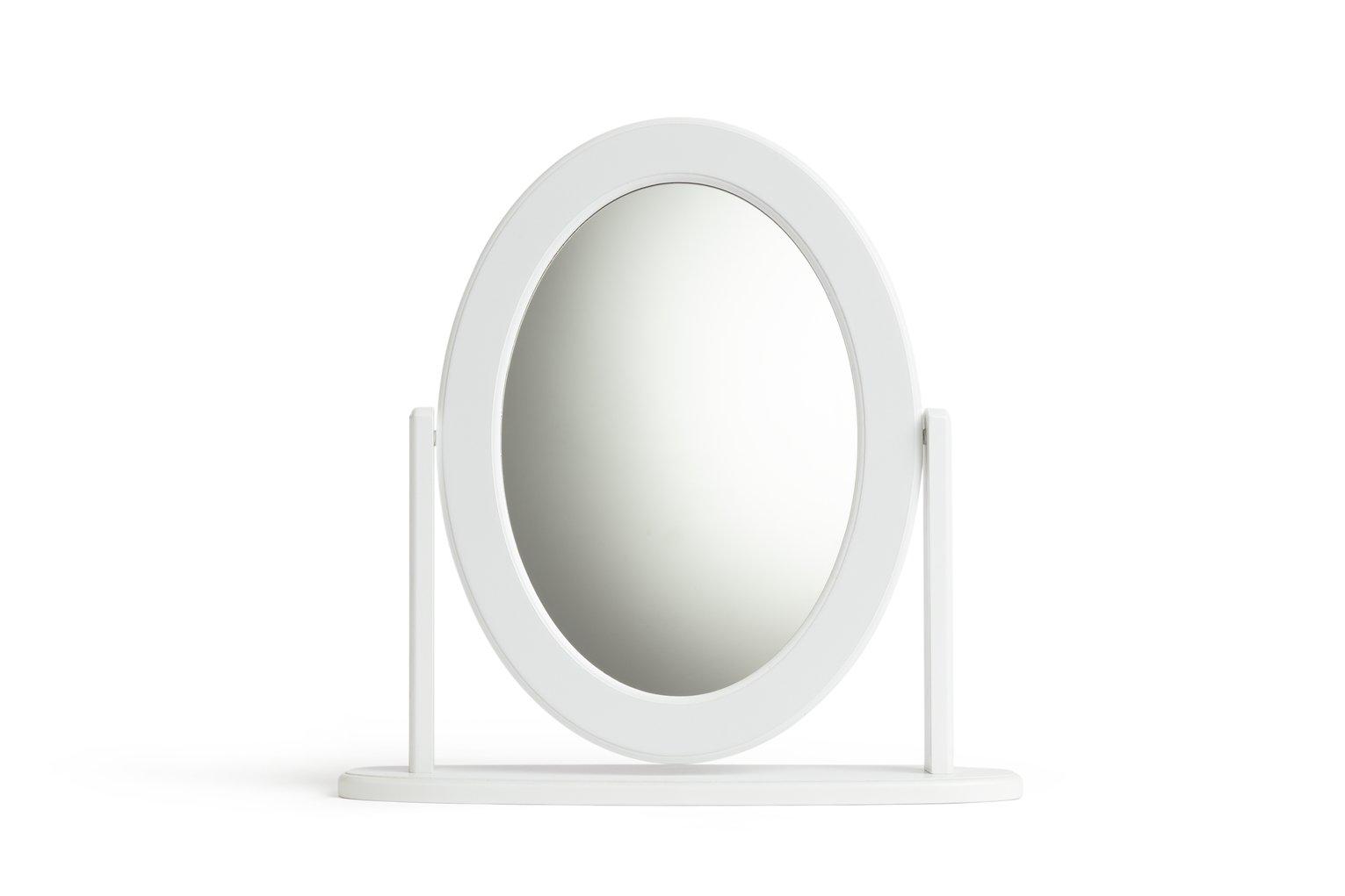 Argos Home Oval Dressing Table Mirror   White