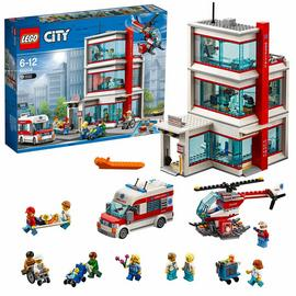 LEGO City Town Hospital Building Set with Light Bricks-60204