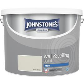 Johnstone's Wall & Ceiling Paint Matt 10L - Ivory Spray