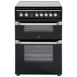 Indesit ID60C2 60cm Double Oven Electric Cooker - Black