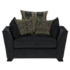 Argos Home Vivienne Fabric Cuddle Chair - Black and Gold