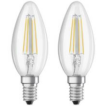 Osram 4W Filament LED Candle SES Bulbs - Twin Pack