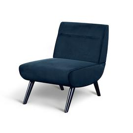Habitat Rufus Velvet Accent Chair - Blue