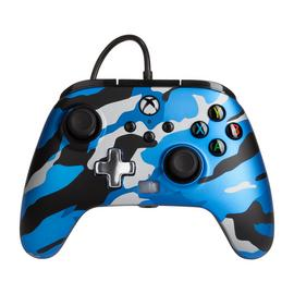 PowerA Xbox X|S / One Enhanced Wired Controller – Blue Camo
