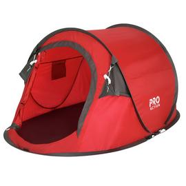 Pro Action Pop Up 2 Man Tent - Red