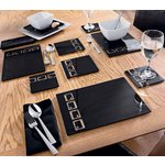 more details on HOME 10 Piece Black Oblong Glass Placemat Set.