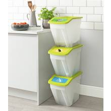 Argos Home 34 Litre Plastic Recycling Bins - Set of 3