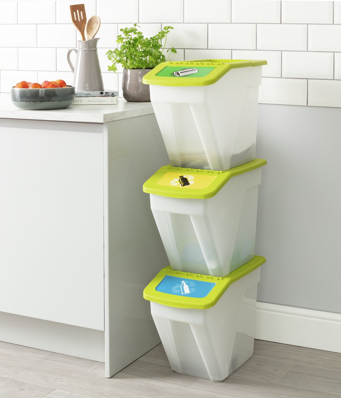 Argos Home 34 Litre Plastic Recycling Bins   Set Of 3