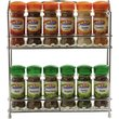 more details on HOME Wall Mountable Wire 12 Jar Rack with Spices.