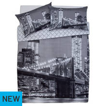 Argos Home New York Skyline Duvet Cover Set - Double