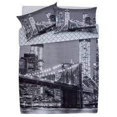 Argos Home New York Skyline Bedding Set - Double