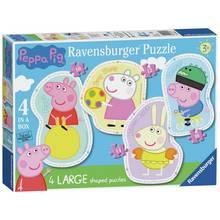 Ravensburger Peppa Pig 4 Large Shaped Jigsaw Puzzles
