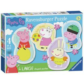 Ravensburger Peppa Pig 4 Large Shaped Jigsaw Puzzles