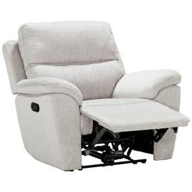 Buy Argos Home Sandy Fabric Manual Recliner Chair Silver | Armchairs and chairs | Argos