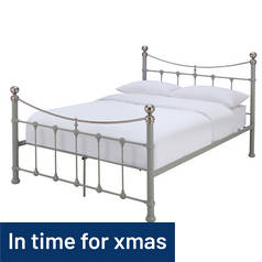 Argos Home Jayna Kingsize Bed Frame - Grey