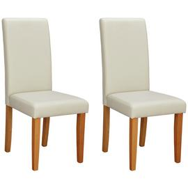 Argos Home Pair of Midback Dining Chairs - Cream
