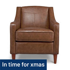 Argos Home Dorian Leather Effect Armchair - Tan