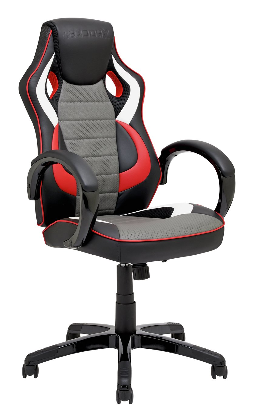 X-Rocker Leather Effect Gaming Chair  sc 1 st  Argos & Results for kids gaming chairs