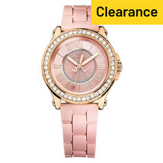 Juicy Couture Ladies' Hollywood Rose Gold Plated Watch