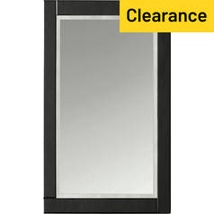 Argos Home Noir Large Bevelled Glass Wall Mirror - Black