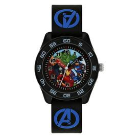 Marvel Avengers Time Teacher Black Silicone Strap Watch