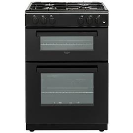 Bush BGC60DB 60cm Double Oven Gas Cooker - Black
