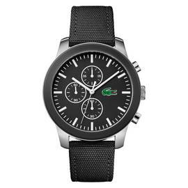 606d40ca3 Lacoste 12.12 Men's Black Silicone Strap Chronograph Watch