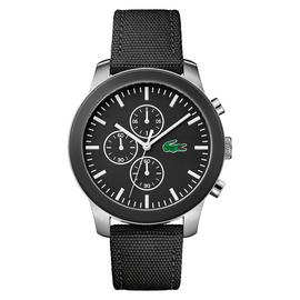 Lacoste 12.12 Men's Black Silicone Strap Chronograph Watch