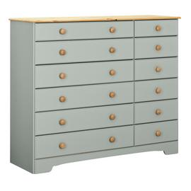 Argos Home Nordic 6+6 Drawer Chest - Grey & Pine
