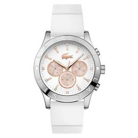 Lacoste Ladies' Charlotte White Strap Chronograph Watch