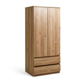 Habitat Jenson 2 Door 2 Drawer Wardrobe - Oak Effect