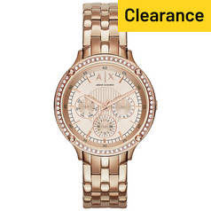 Armani Exchange Ladies' AX5406 Rose Tone Chronograph Watch