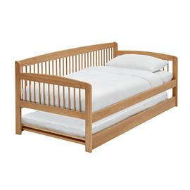 Argos Home Andover Day Bed w/ Trundle & 2 Mattresses - Pine