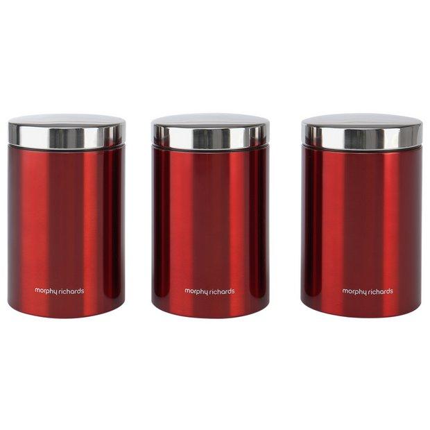 Buy Morphy Richards Accents Set Of 3 Storage Jars Storage Jars And Sets Argos