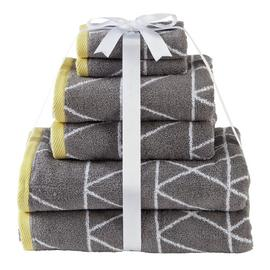 Argos Home 6 Piece Towel Bale - Geometric