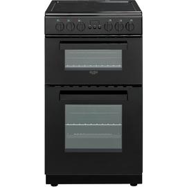 Bush DHBETC50B 50cm Twin Cavity Electric Cooker - Black Best Price, Cheapest Prices