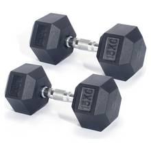 Men's Health Rubber Dumbbell Set - 2 x 15kg