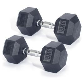 Men's Health Rubber Dumbbell Set - 2 x 15kg