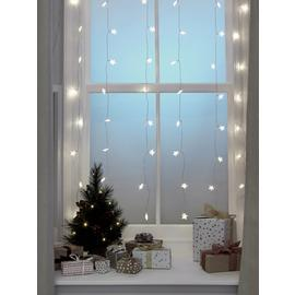 Argos Home 60 Warm White Star Curtain Lights - 1m