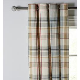 Argos Home Printed Check Eyelet Curtains