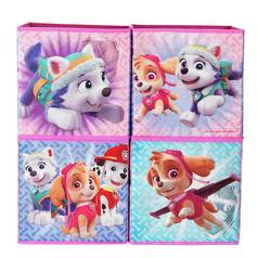Argos Home Set of 4 Paw Patrol Skye Canvas Boxes